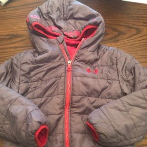 Toddler under armour winter puffer coat